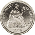 Patterns: , 1873 10C Seated Liberty Dime, Judd-1269, Pollock-1411, High R.7,PR66 NGC. The regular dies for the 1873 No Arrows Seated L...