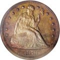 Patterns: , 1873 $1 Seated Liberty Dollar, Judd-1274, Pollock-1416, Low R.7,PR65 Red and Brown NGC. The ...