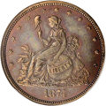 Patterns: , 1874 20C Bailly's Seated Liberty Twenty Cents, Judd-1355,Pollock-1499, Low R.6, PR64 Red and Brown NGC. Bailly's designfi...