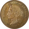 Patterns: , 1874 $10 Bickford Ten Dollar, Judd-1374, Pollock-1519, Low R.6,PR65 Brown PCGS. The obverse depicts a bust of Liberty faci...