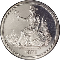 1876 $1 Seated Liberty Commercial Dollar, Judd-1472, Pollock-1623, R.8, PR61 PCGS. Liberty by the Sea Shore obverse with...