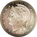 Patterns: , 1877 50C Barber's Liberty Head Half Dollar, Judd-1526, Pollock-1694, High R.7, PR66 NGC. These dies are attributed to Willi...