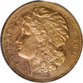 Patterns: , 1878 $10 Morgan's Liberty Head Eagle, Judd-1582, Pollock-1775, R.8, PR62 Red and Brown PCGS. Liberty wears a large soft cap...