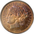 1879 10C Washlady Dime, Judd-1585, Pollock-1778, High R.6, PR66 Red and Brown PCGS. This is the famous and popular Washl...