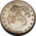 Patterns: , 1879 25C Washlady Quarter Dollar, Judd-1590, Pollock-1783, HighR.6, PR68 NGC. Ex: Genaitis. The Washlady obverse design by...