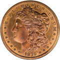 Patterns: , 1879 $1 Morgan's Liberty Head Silver Dollar, Judd-1616,Pollock-1812, Low R.7, PR65 Red and Brown NGC. The obverse is thes...