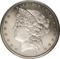 Patterns: , 1880 $1 Goloid Metric Dollar, Judd-1645, Pollock-1845, High R.6,PR65 NGC. The obverse and reverse designs are the same as ...