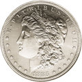 Patterns: , 1885 $1 Morgan's Lettered Edge Silver Dollar, Judd-1749, Pollock-1961, Low R.7, PR63 NGC. The regular issue obverse and rev...