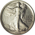 Patterns: , 1916 50C Walking Liberty Half Dollar, Judd-1992, formerly Judd-1797, Pollock-2053, Low R.7, PR53 NGC. A significant 20th c...
