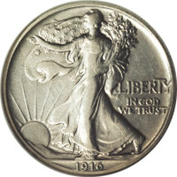 1916 50C Walking Liberty Half Dollar, Judd-1992, formerly Judd-1797, Pollock-2053, Low R.7, PR53 NGC. A significant 20th...