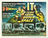 """It Came from Outer Space (Universal International, 1953). Title Lobby Card (11"""" X 14"""") 3-D Style"""