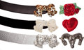 Luxury Accessories:Accessories, Set of Six: Kathrine Baumann Belt Buckles and Three Straps. ...