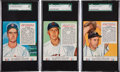 Baseball Cards:Lots, 1953 Red Man Tobacco SGC 88 NM/MT 8 Trio (3) - Each Among TheFinest Known Examples! ...