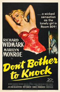 "Don't Bother to Knock (20th Century Fox, 1952). One Sheet (27"" X 41"")"
