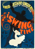 "Movie Posters:Musical, Swing Time (RKO, 1936). Danish Poster (24.5"" X 33.25"").. ..."