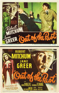 "Movie Posters:Film Noir, Out of the Past (RKO, 1947). Title Lobby Card and Lobby Card (11"" X14"").. ... (Total: 2 Items)"