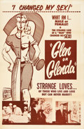 "Movie Posters:Exploitation, Glen or Glenda (I Led Two Lives) (Screen Classics Inc., 1953). OneSheet (27"" X 41"").. ..."
