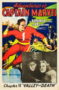 "Movie Posters:Serial, Adventures of Captain Marvel (Republic, 1941). One Sheet (27"" X41""). Chapter 11 -- ""Valley of Death."". ..."