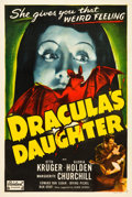 "Movie Posters:Horror, Dracula's Daughter (Realart, R-1949). One Sheet (27"" X 41"").. ..."