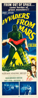 "Invaders from Mars (20th Century Fox, 1953). Insert (14"" X 36"")"