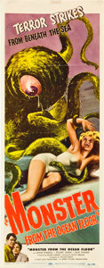 "Movie Posters:Science Fiction, Monster from the Ocean Floor (Lippert, 1954). Insert (14"" X 36"").. ..."