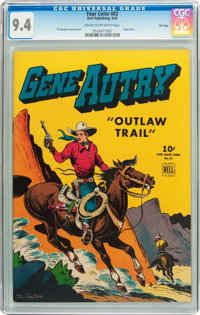 Four Color #83 Gene Autry - File Copy (Dell, 1945) CGC NM 9.4 Cream to off-white pages