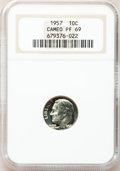 Proof Roosevelt Dimes: , 1957 10C PR69 Cameo NGC. NGC Census: (77/0). PCGS Population(11/0). Numismedia Wsl. Price for problem free NGC/PCGS coin...