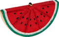 Luxury Accessories:Bags, Judith Leiber Classic Red, White, & Green Beaded WatermelonSlice Minaudiere Evening Bag. ...