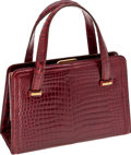 Luxury Accessories:Bags, Gucci Shiny Bordeaux Crocodile Day Bag. ...