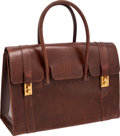 Luxury Accessories:Travel/Trunks, Hermes Antique Brown Leather 40 cm Drag Bag with Gold Hardware. ...