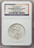 Seated Half Dollars, 1861-O 50C SS Republic, Shipwreck Effect (C) NGC. Unc. UnitedStates Issue, W-02. NGC Census: (0/117). PCGS Population (4/1...