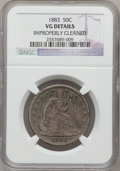 Seated Half Dollars: , 1883 50C --Improperly Cleaned-- NGC Details. VG. NGC Census:(1/67). PCGS Population (1/131). Mintage: 8,000. Numismedia Wsl...