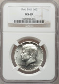 SMS Kennedy Half Dollars: , 1966 50C SMS MS69 NGC. Mintage: 2,200,000. Numismedia Wsl. Price for problem free...