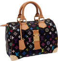 Luxury Accessories:Bags, Louis Vuitton Black Monogram Multicolor Classic Speedy Bag. ...