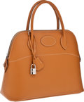Luxury Accessories:Bags, Hermes 31cm Natural Chamonix Leather Rigide Bolide Bag withPalladium Hardware. ...