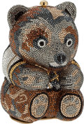 Luxury Accessories:Bags, Judith Leiber Full Bead Multicolor Bear Minaudiere Evening Bag. ...
