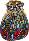 Luxury Accessories:Bags, Judith Leiber Full Bead Multicolor Stained-Glass Fantasy Beggar'sPurse Minaudiere Evening Bag. ...