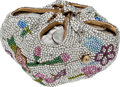 Luxury Accessories:Bags, Judith Leiber Floral Beaded Coin Box Minaudiere Evening Bag. ...