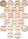 Autographs:Baseballs, 1930's-2000's 500 Home Run Club Signed Baseballs Lot of 20....