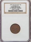 Civil War Merchants, 1863 J.B. Schram, Grocer, Milwaukee, WI, MS63 Brown NGC.Fuld-510AI-1a....