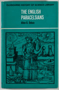 Books:Metaphysical & Occult, Allen G. Debus. The English Paracelsians. London: Oldbourne, [ 1965]. First edition. Octavo. 322 pages. Index. P...