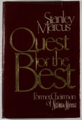 Books:Business & Economics, Stanley Marcus. INSCRIBED. Quest for the Best. New York:Viking, [1979]. First edition, first printing. Inscri...
