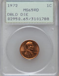 Lincoln Cents, 1972 1C Doubled Die Obverse MS65 Red PCGS. PCGS Population(1209/507). NGC Census: (540/165). Mintage: 75,000. Numismedia W...