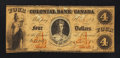 Canadian Currency: , Toronto, ON- The Colonial Bank of Canada $4 Apr. 4, 1859 Ch. #130-10-02-08. ...