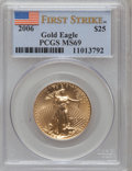 Modern Bullion Coins, 2006 G$25 Half-Ounce Gold Eagle First Strike MS69 PCGS. PCGSPopulation (1016/107). (#89987)...