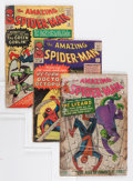 Silver Age (1956-1969):Superhero, The Amazing Spider-Man Group (Marvel, 1963-66) Condition: Average PR.... (Total: 9 Comic Books)