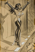 "Pin-up and Glamour Art, BILL WARD (American, 1919-1998). ""I'm Not a Reformer, But ThisIs One Movement I'm All For"", Men's magazine cartoon illust..."