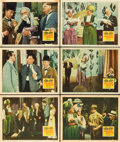 """Movie Posters:Comedy, A-Haunting We Will Go (20th Century Fox, 1942). Lobby Cards (6) (11"""" X 14"""").. ... (Total: 6 Items)"""