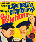 "Movie Posters:Comedy, Our Relations (MGM, 1936). Window Card (11"" X 17"").. ..."