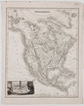 Antiques:Posters & Prints, Map of North America with British Territory. Fullarton, [ca. 1847].Measures 11 x 8.75 inches, with binding edge. Fold lines...